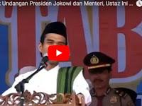 Diundang Presiden Jokowi dan Menteri untuk Ceramah, Jawaban Ustaz Abdul Somad Banjir Pujian,[Video]