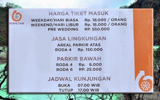 Harga tiket masuk wisata Kawah Putih terbaru