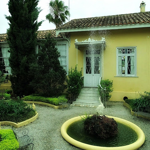 Jardim em meio à casa de Carlos Barbosa, Jaguarão
