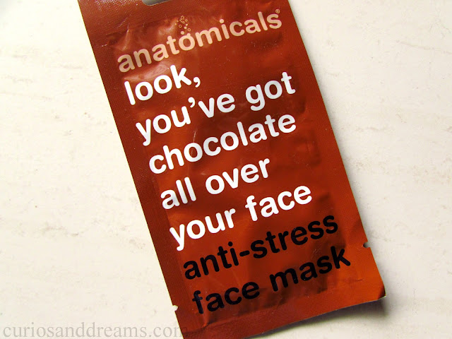 Look, You've Got Chocolate All Over Your Face Anti-Stress Face Mask review, Anatomicals Anti Stress Face Mask review, Anatomicals Face mask review