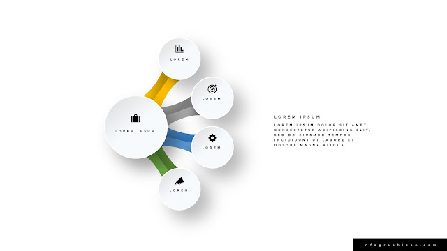 Infographic Organic Circular 4 Banner Options for PowerPoint Type B