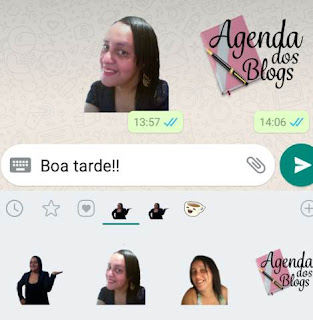 Whatsapp: Menagens com stickers de fotos.
