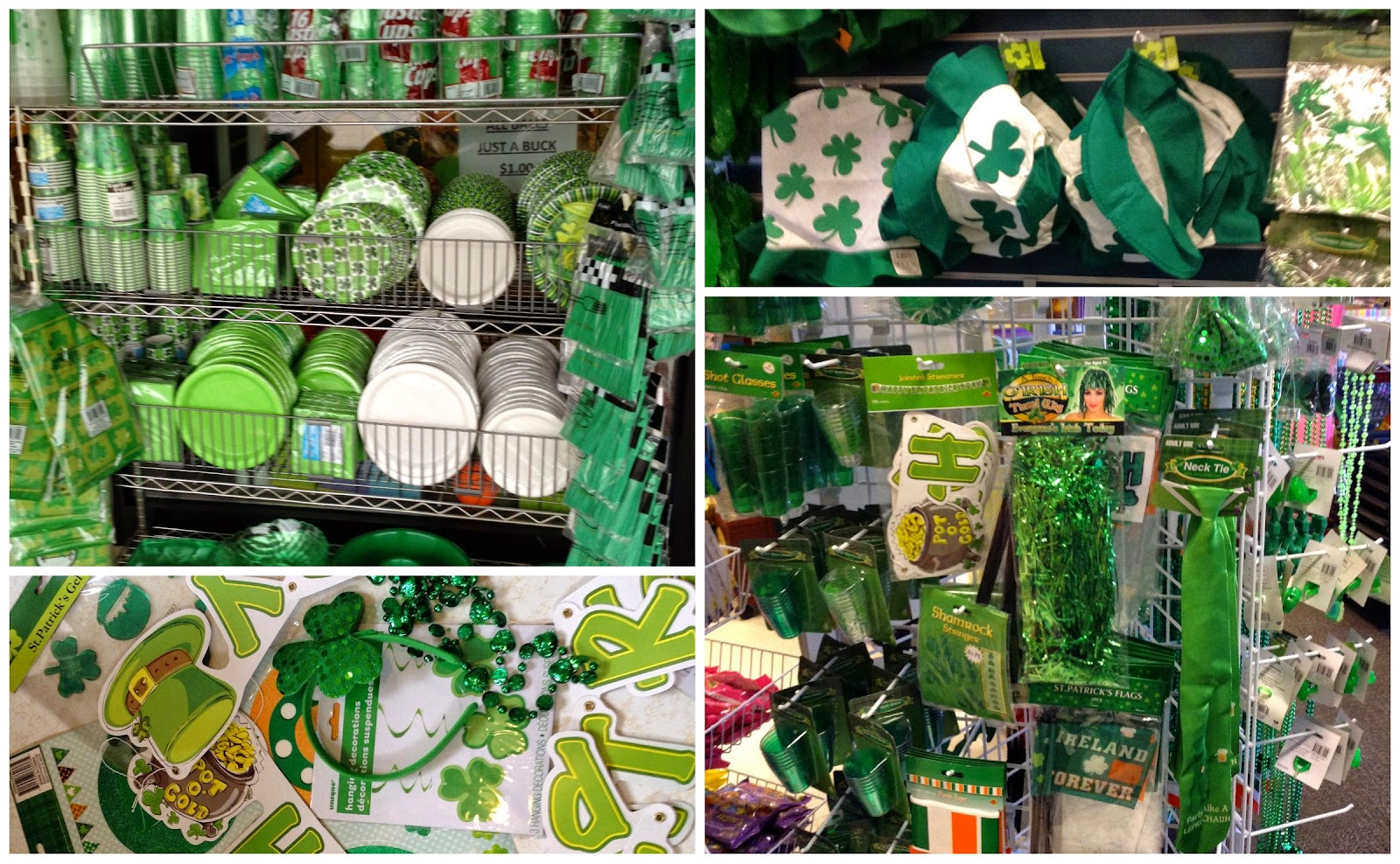 Just-A-Buck Northeast Ohio - St. Patrick's Day display