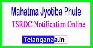MJPTBC TSRDC Notification 2017 Online Application