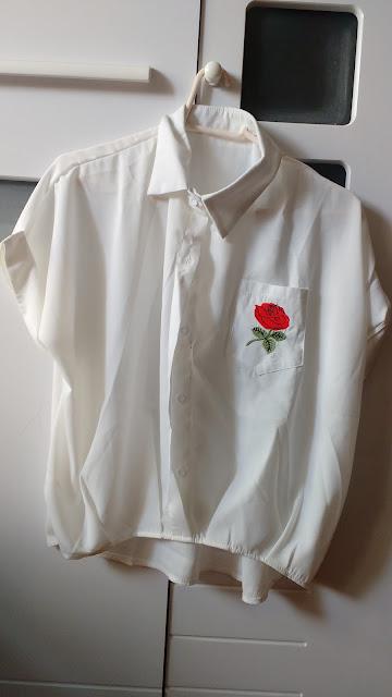 Recebidos Loja Rosegal, blusa branca floral, blusa branca