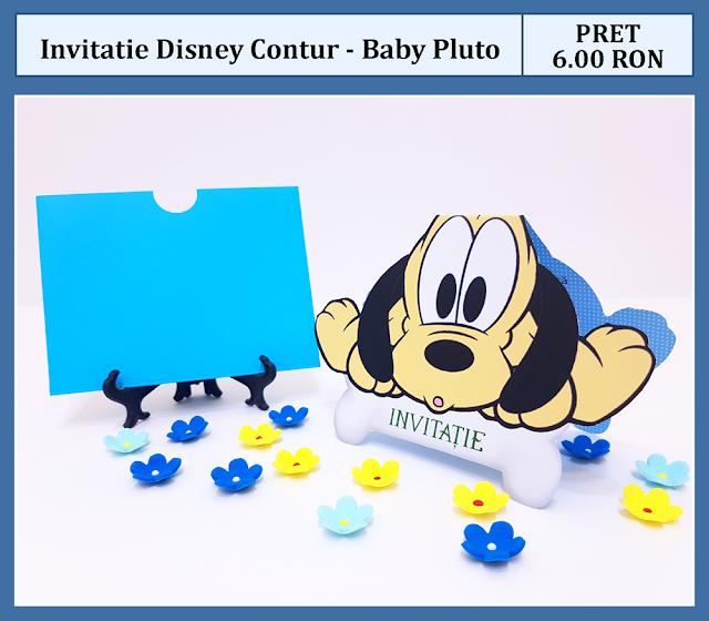 invitatii botez contur Baby Pluto
