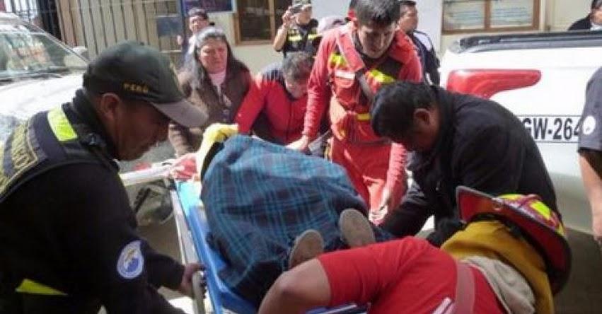 Escolares heridos al caer combi a abismo en el distrito de Marcabal - Sánchez Carrión, La Libertad