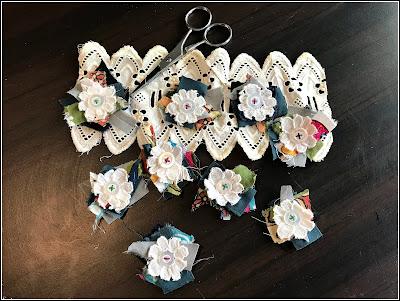 March 17, 2019 Making ephemera for my junk journals - fabric stacks