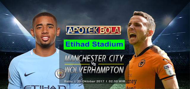 Prediksi Pertandingan - Manchester City vs Wolverhampton 25 Oktober 2017