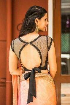 de51dfbc2b5fcc 101 Stunning Saree Blouse Back Neck Designs | Bling Sparkle