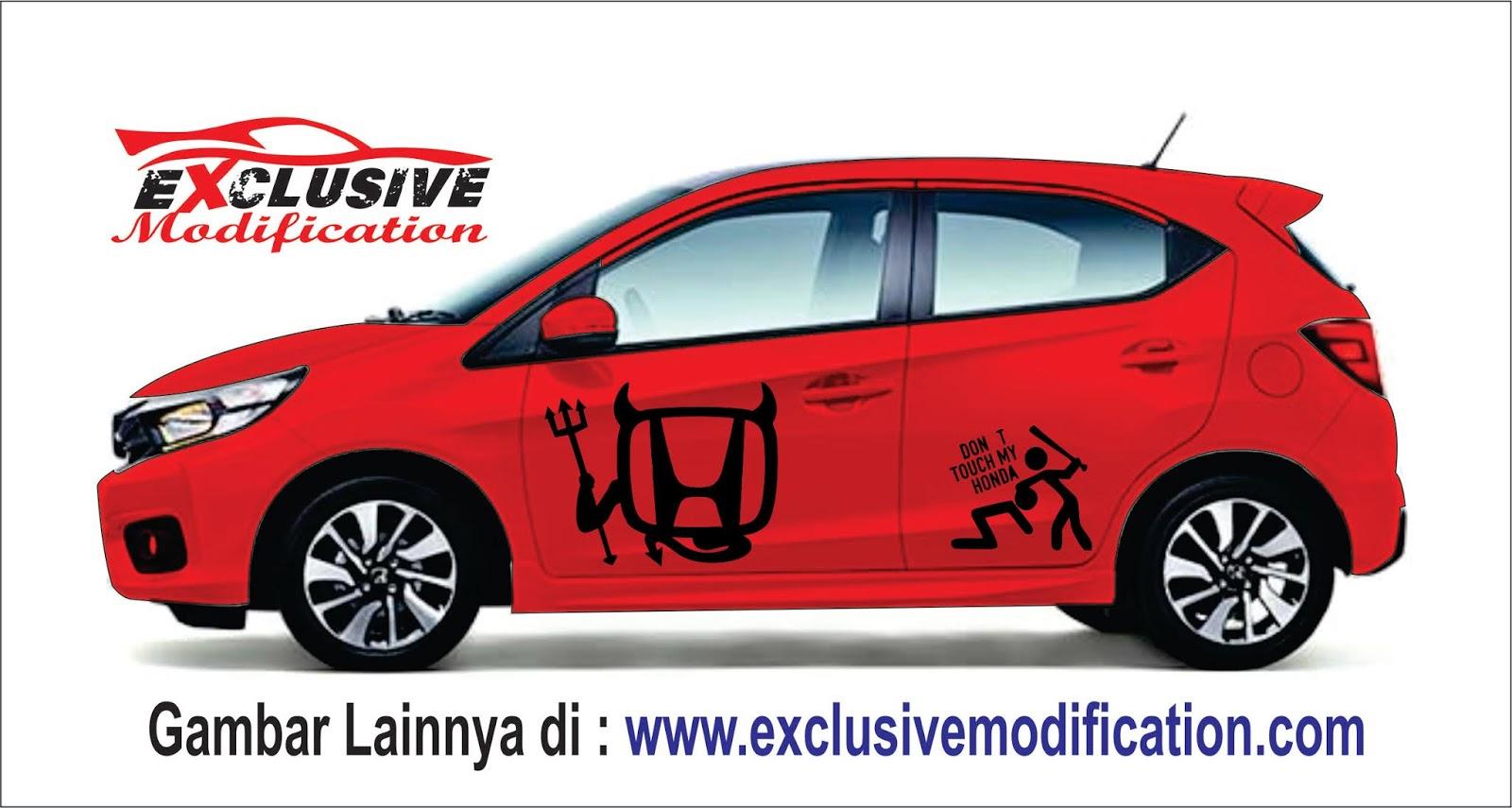 Modifikasi Motif Cutting Sticker Mobil Datsun Go 2019 Retromodif