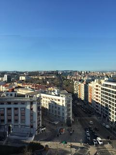 vista de Lisboa pelo alto do El Corte Inglés