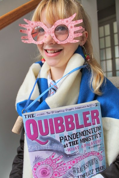 graphic regarding Luna Lovegood Glasses Printable called Harry Potter Do-it-yourself Luna Lovegood Gown (An straightforward how toward