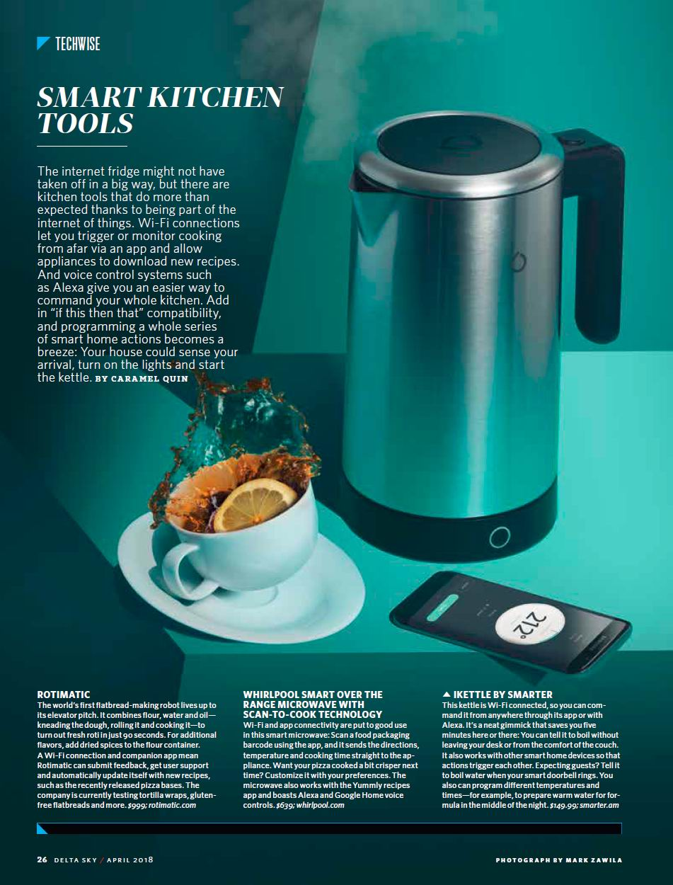Caramel Quin, writer & editor: Delta Sky: Smart kitchen tech