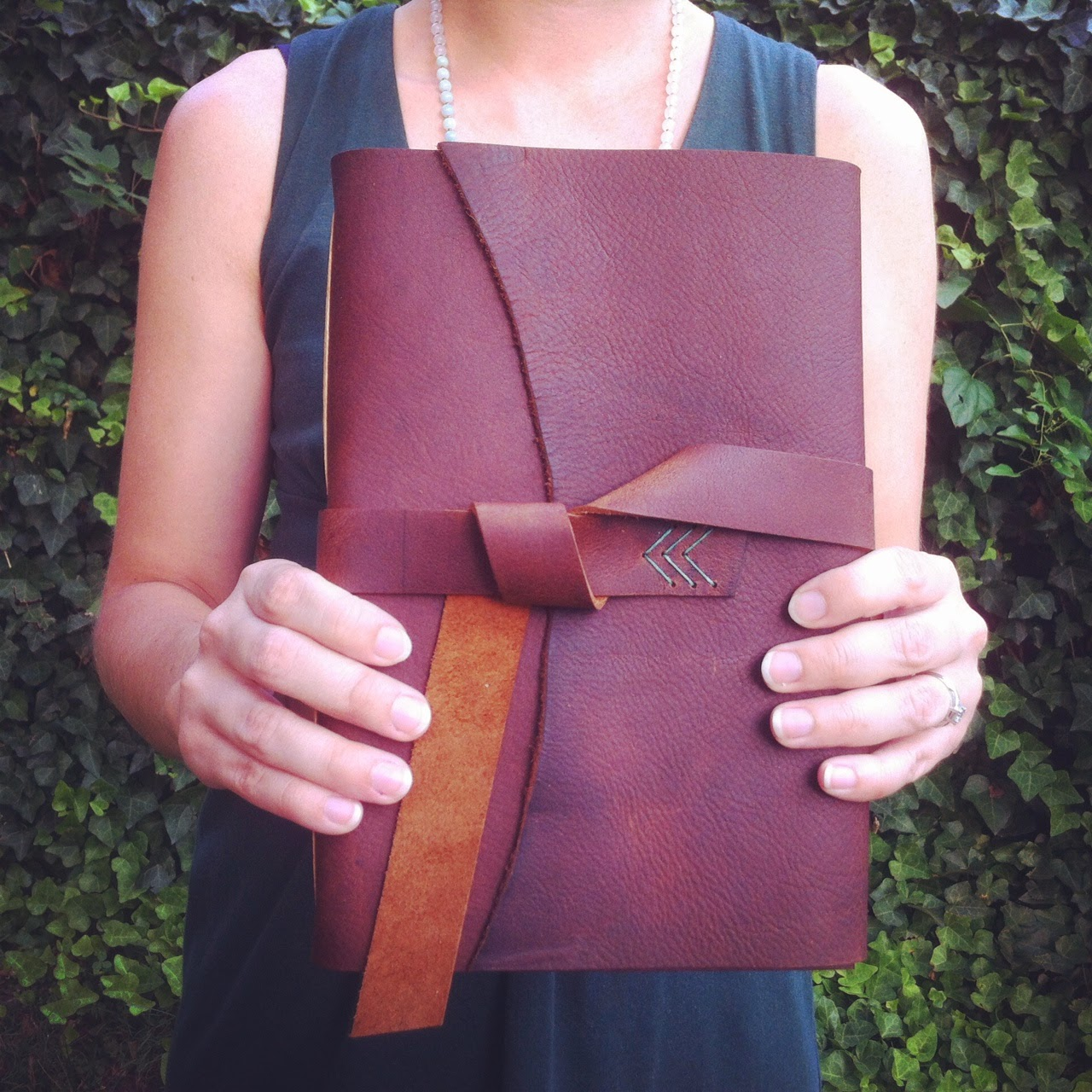 Handbound leather journal by Katie Gonzalez