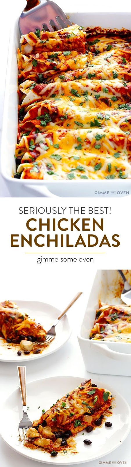 BEST CHICKEN ENCHILADAS EVER!
