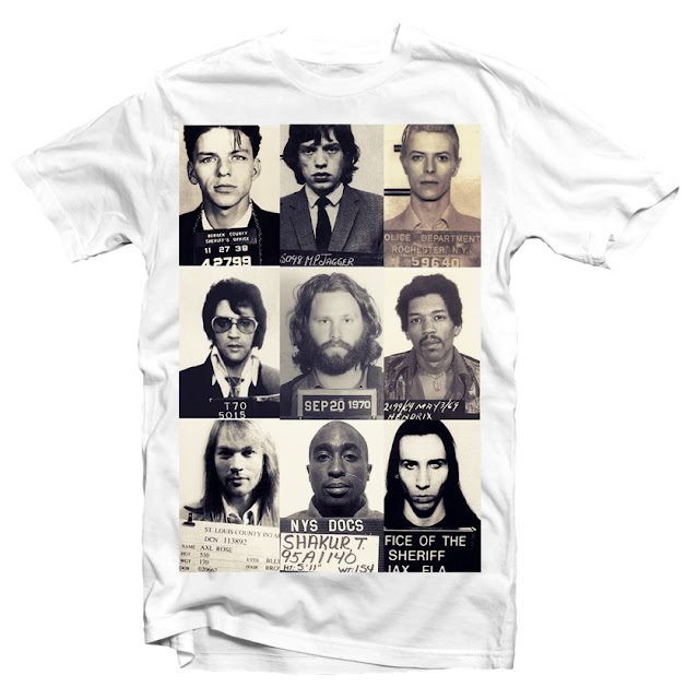 mugshot celebrities tshirt design