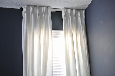 not so newlywed mcgees diy custom french pleat curtains. Black Bedroom Furniture Sets. Home Design Ideas