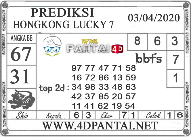 PREDIKSI TOGEL HONGKONG LUCKY 7 PANTAI4D 03 APRIL 2020