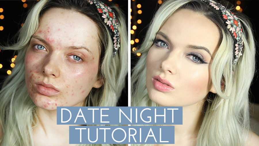 Acne Coverage, Date Night Make Up Tutorial!