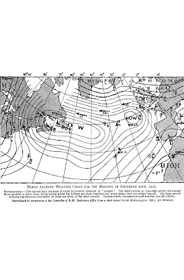 weather map north atlantic December 1927, Northern Lapwing invasion