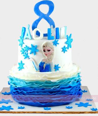 Bánh sinh nhật | Bánh in hình công chúa Elsa xinh đẹp