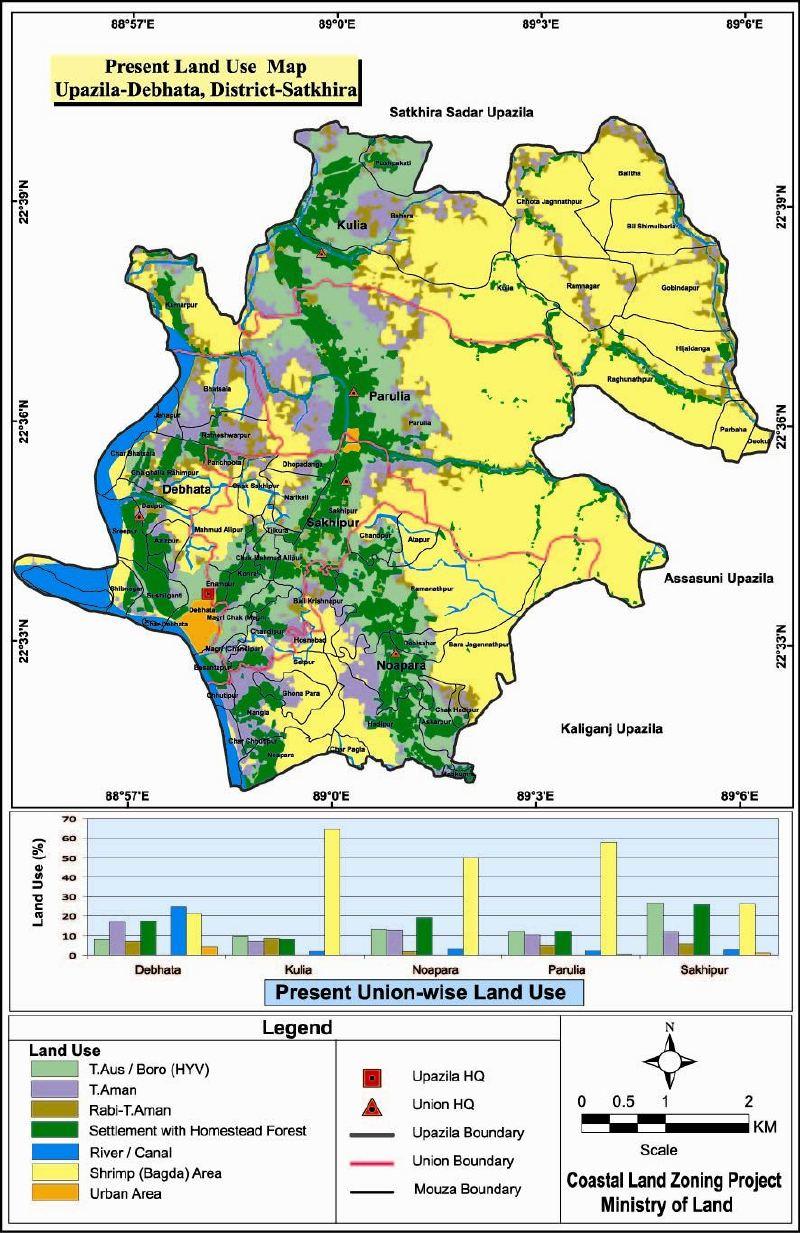 Debhata Upazila Mouza Map Satkhira District Bangladesh
