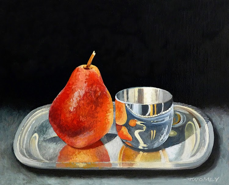 """Pear With Jefferson Cup"" by Twomey"