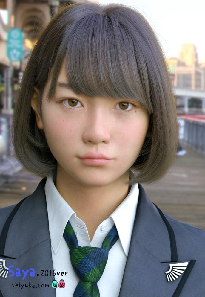 リアル過ぎるとネットで話題!進化した「3D 仮想 美少女 Saya」が、講談社主催の現実のオーディションでセミ