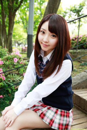 Yoshiko Suenaga Japanese Cute Idol Sexy Schoolgirl Uniform -6590