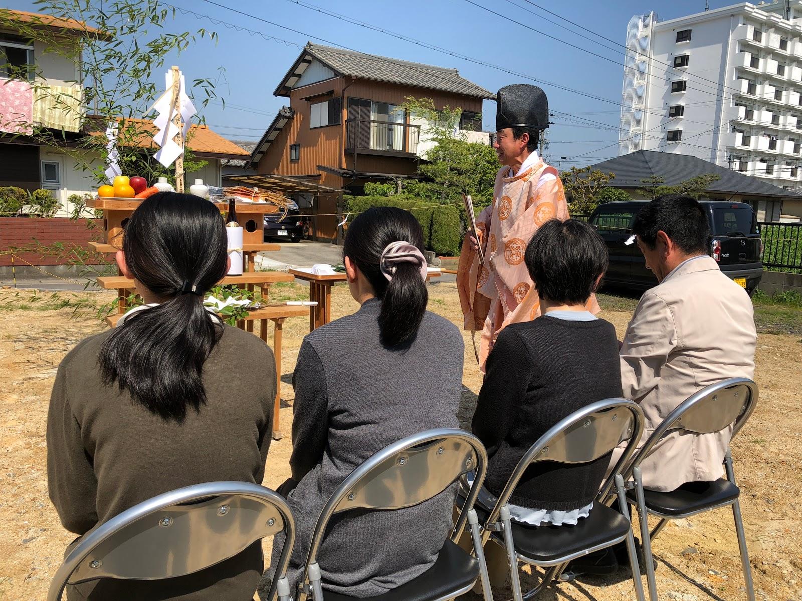 自然素材の平屋の家 三重県鈴鹿市 地鎮祭