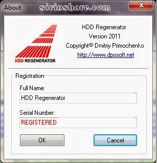 Hdd Regenerator 1.71 serial key or number