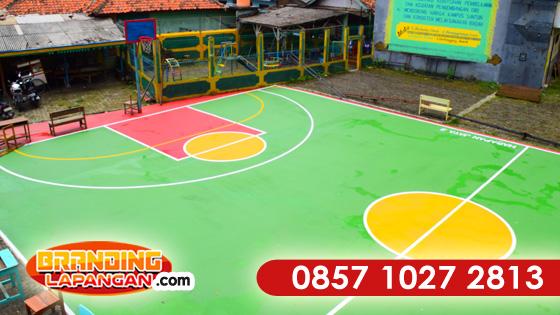 Pengecatan Lapangan Basket, pengecatan lapangan, jasa pengecatan lapangan