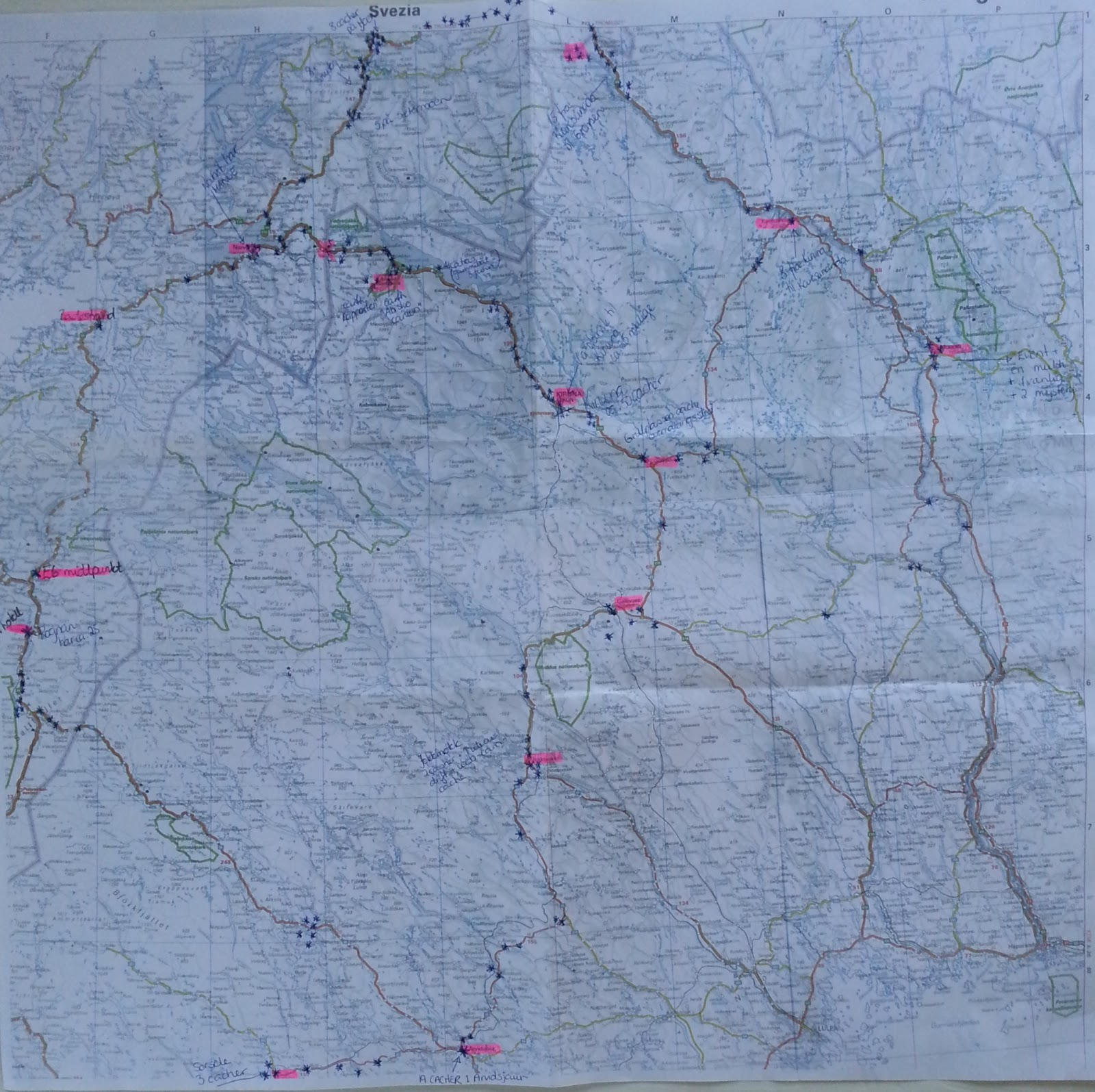 kart kjørerute norge sverige Villmarkshjerte: Jeg GLEDER meg til
