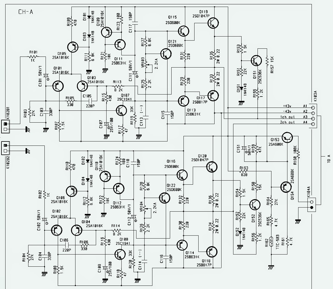 Rotel Rmb 8 Channel Power Amplifier Schematic