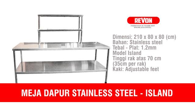 Meja Dapur Stainless Steel untuk Resto di Madiun