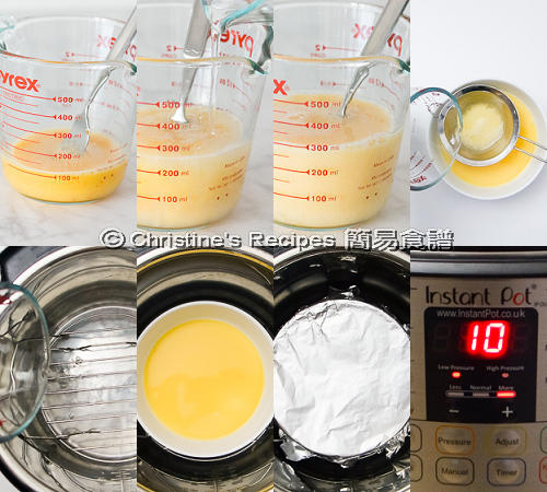 蒸滑水蛋製作圖 Steamed Eggs in Instant Pot Procedures