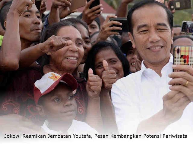 Jokowi Resmikan Jembatan Youtefa, Pesan Kembangkan Potensi Pariwisata
