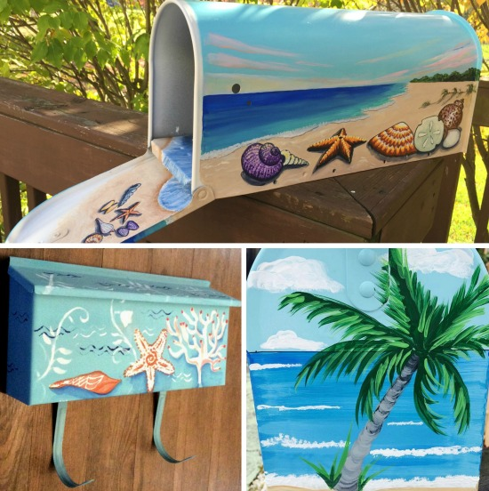 Hand Painted Beach Art Mailboxes