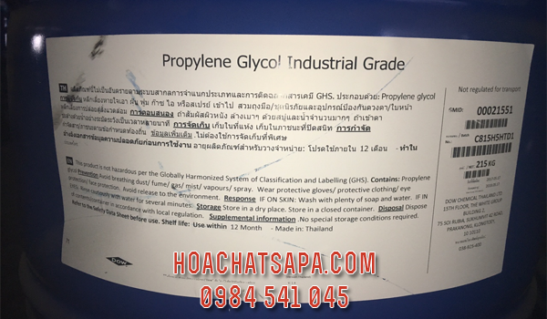 Propylene Glycol Industrial Grade | PG công nghiệp