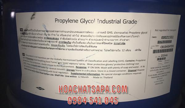 Propylene Glycol Industrial Grade, PG công nghiệp