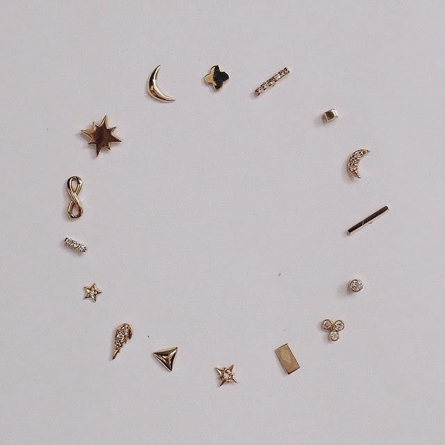 Tiny Gold Earrings