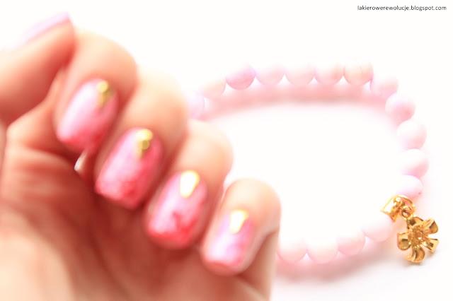 Marmurkowe paznokcie + biżuteria Koral-Art