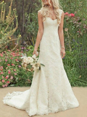 Hot Sale Trumpet/Mermaid Court Train Lace Country Wedding Dress (11342026)