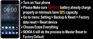 How to Reset Nokia 6