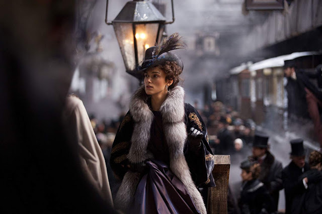 Image of Keira Knightley as Anna Karenina in the Joe Wright directed movie based on the book