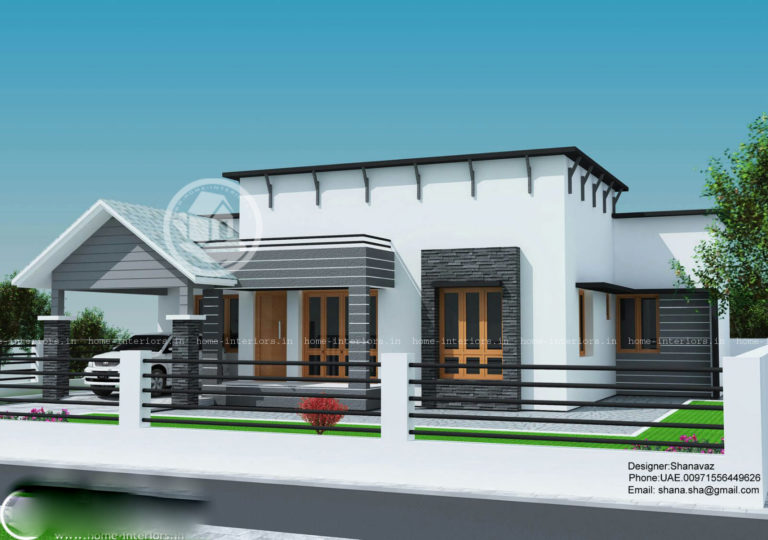 1300 Square Feet 3 Bedroom Single Floor Contemporary Home Design and 3D Plan