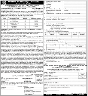KMRC Recruitment 2015 Application Form for 16 Apprentices