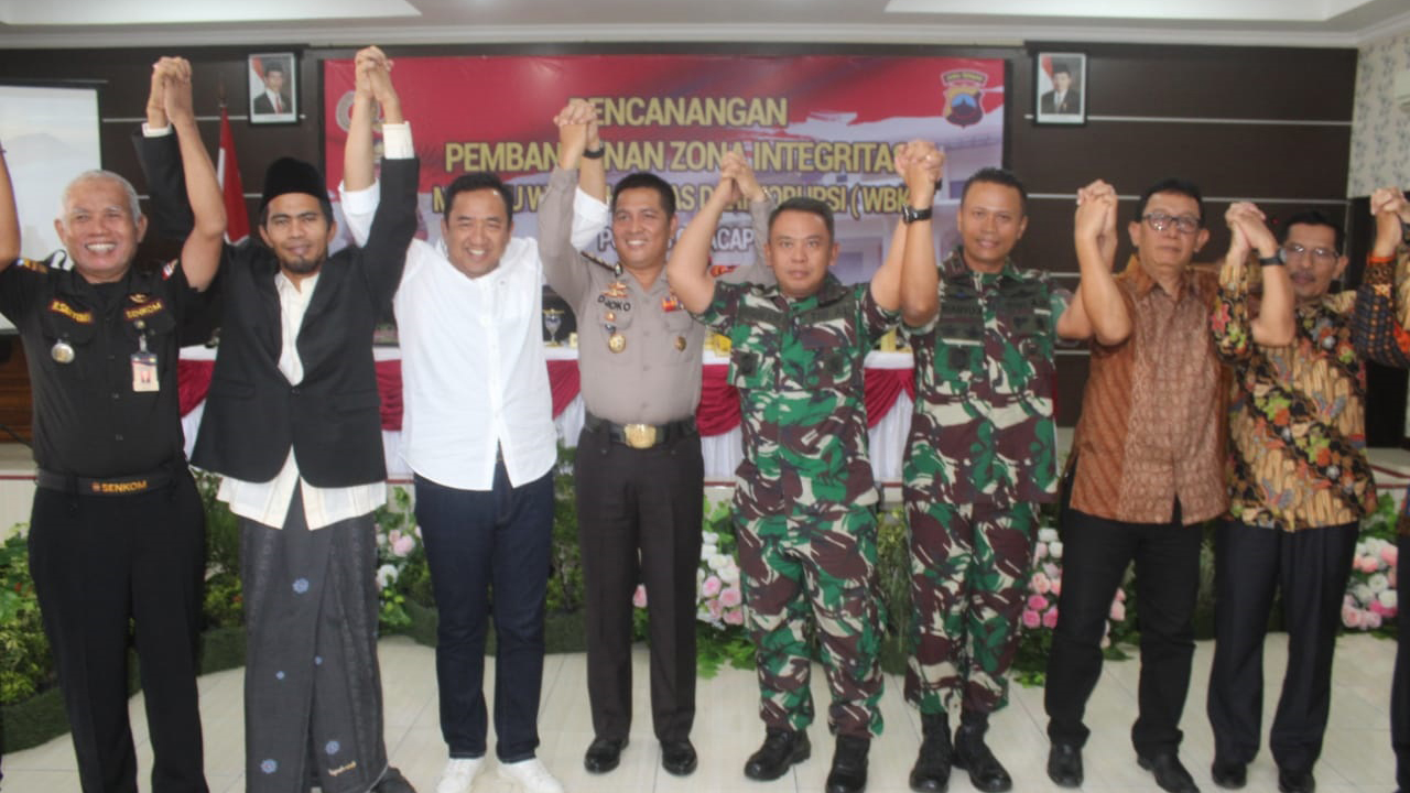 Dandim 0703/Cilacap Apresiasi Program Polres Cilacap Menuju Wilayah Bebas Korupsi (WBK)
