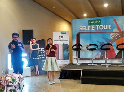 OPPO Selfie Tour with F5 Lampung, Fahmi dan Mellisa Bonauli P